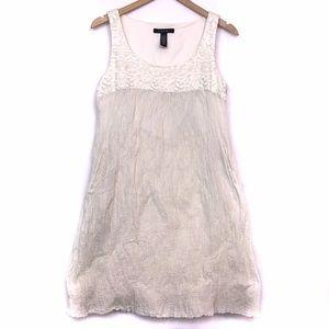 LAUNDRY SHELLI SEGAL Cream Floral Boho Shift Dress